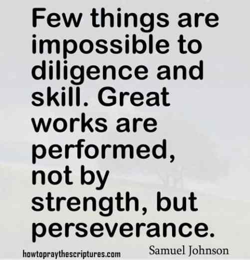 perseverance and encouragement