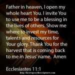 Prayer To Thank God For His Resources