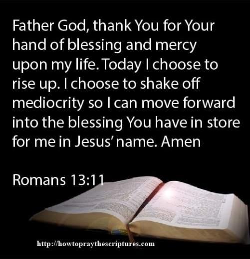 Prayer To Shake Off Mediocrity