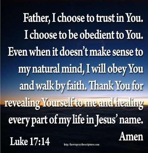 How To Pray Luke 17:14