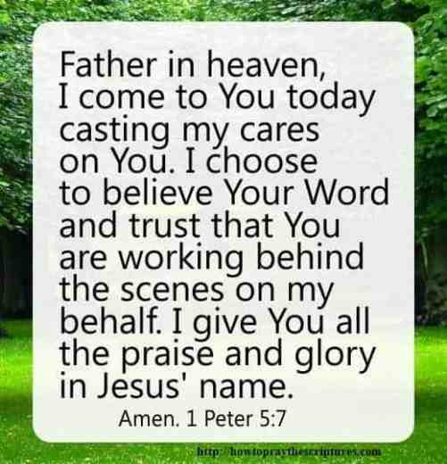 How To Pray 1 Peter 5:7