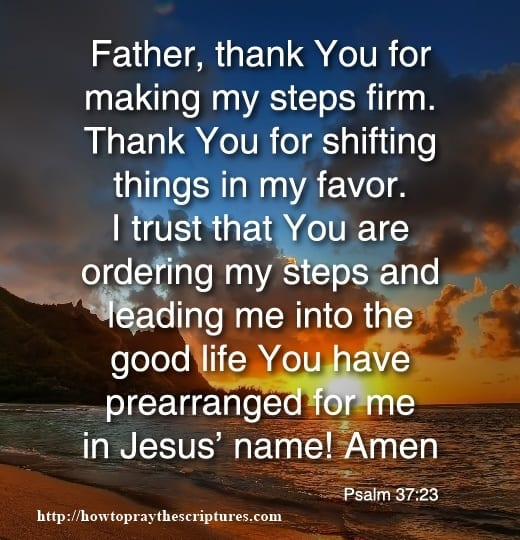 Prayer For God To Order Your Steps