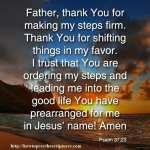 Prayer For God To Order Your Steps