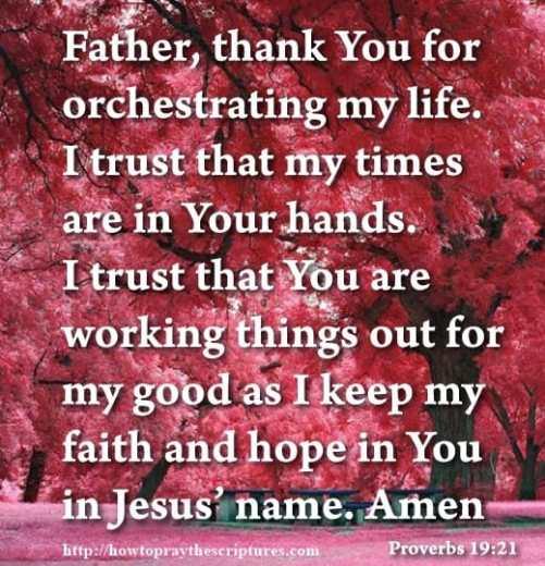 Trusting God in Hard Time Prayer