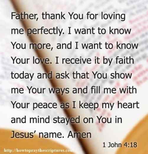 Prayer To Know Gods Love