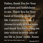 I Receive It By Faith Prayer