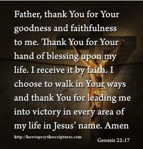 I Receive It By Faith Prayer