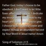 Prayer To Dedicate My Resources To God