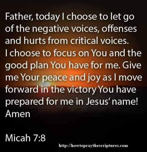 How To Pray To Move Forward In Victory