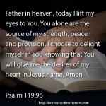 Prayer To Delight Yourself In God