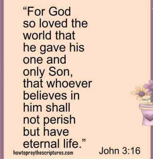 For God So Loved The World That He Gave His One