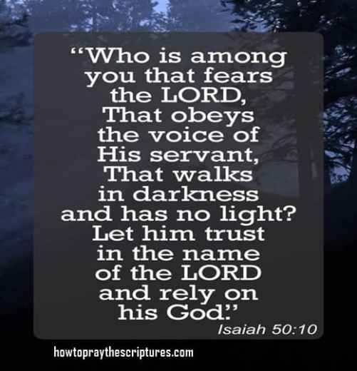 Who is among you that fears the LORD