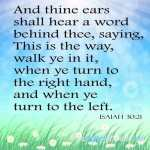 And Thine Ears Shall Hear A Word Behind Thee Saying