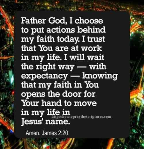 Prayer To Put Action Behind Faith