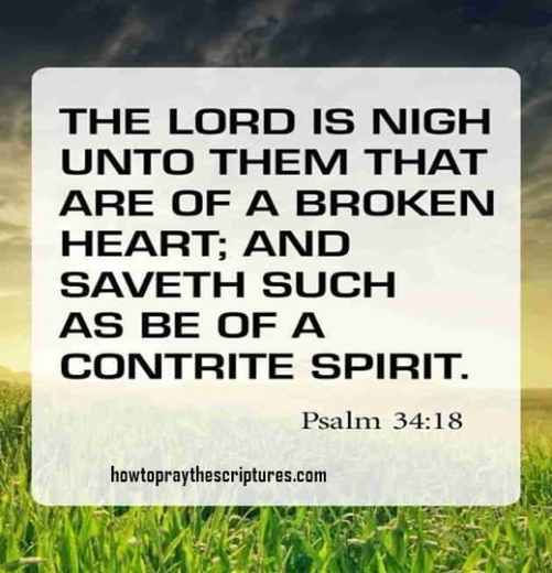 the lord is nigh unto them that are of a broken heart