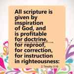 All Scripture Is Given 2 Timothy 3-16