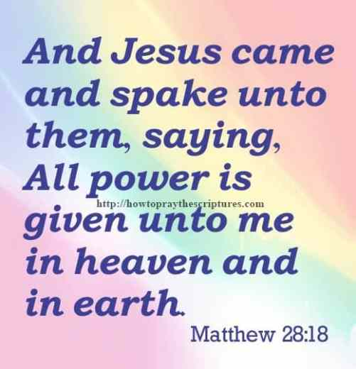 And Jesus Came And Spake Unto Them Matthew 28-18