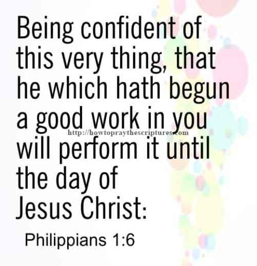 Being Confident Of This Very Thing Philippians 1-6