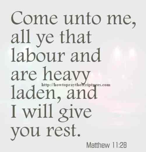 Come Unto Me All Ye That Labour Matthew 11-28