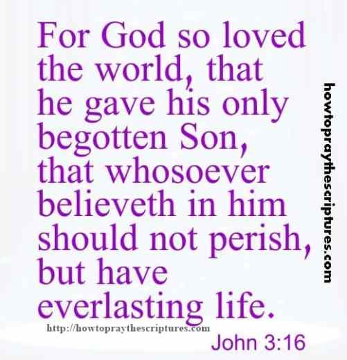 For God So Loved The World John 3-16
