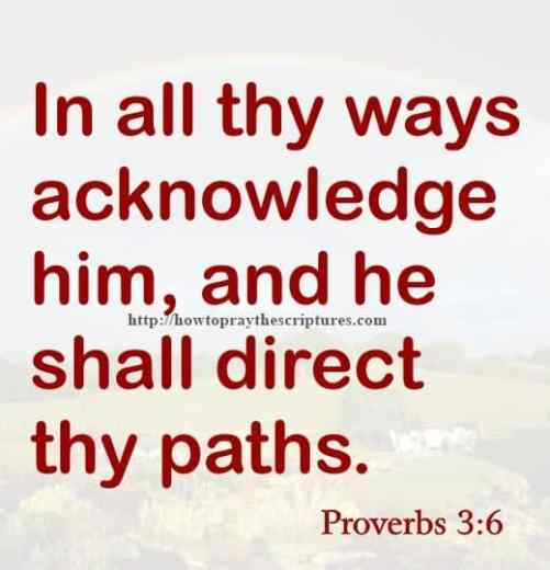 In All Thy Ways Acknowledge Him Proverbs 3-6