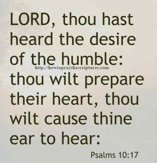 LORD Thou Hast Heard The Desire Psalms 10-17
