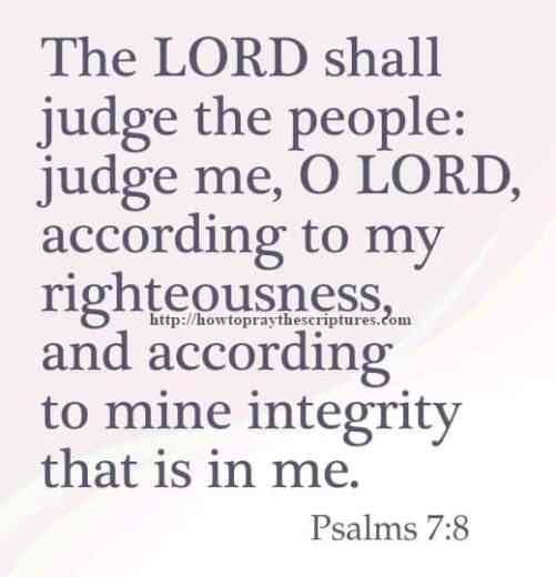 The LORD Shall Judge The People Psalms 7-8