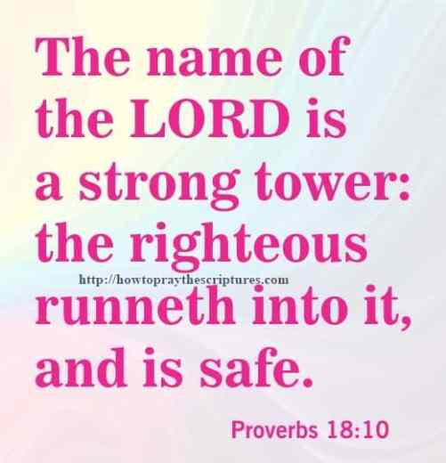 The Name Of The LORD Proverbs 18-10