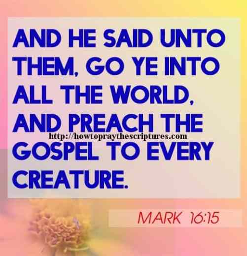 And He Said Unto Them Go Ye Into All The World