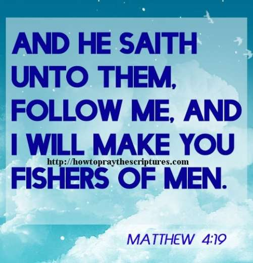 And He Saith Unto Them Follow Me Matthew 4-19