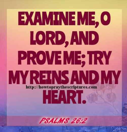 Examine Me O LORD And Prove Me