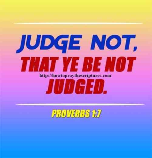 Judge Not That Ye Be Not Judged Matthew 7-1