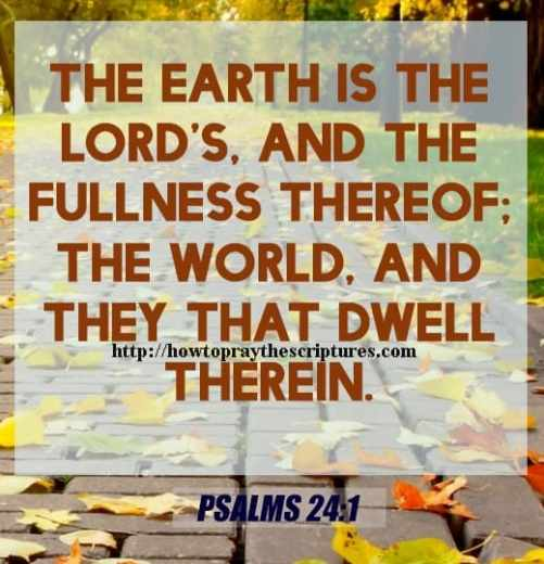 The Earth Is The LORDS And The Fulness Psalms 24-1