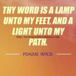 Thy Word Is A Lamp Unto My Feet Psalms 119-105