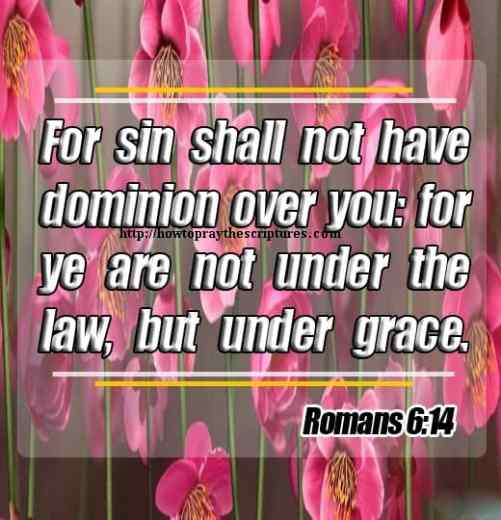 For Sin Shall Not Have Dominion Over You Romans 6-14