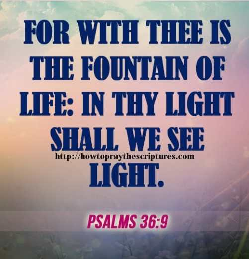 For With Thee Is The Fountain Of Life Psalms 36-9