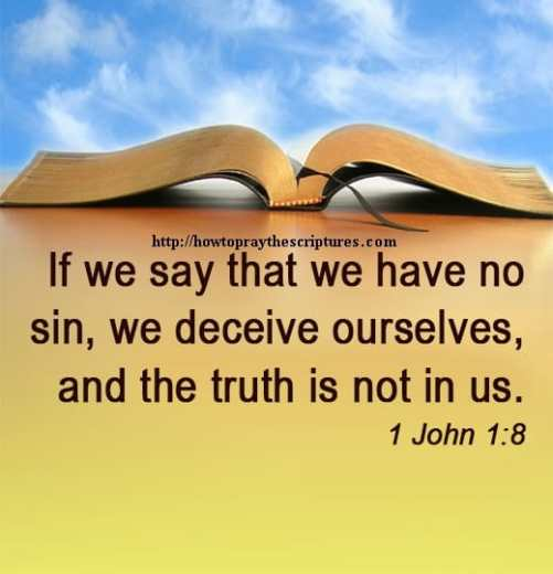 If we say that we have no sin 1 John 1-8