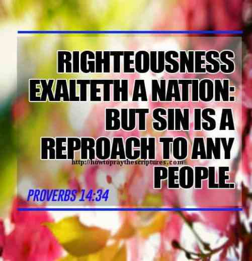 Righteousness Exalteth A Nation Proverbs 14-34