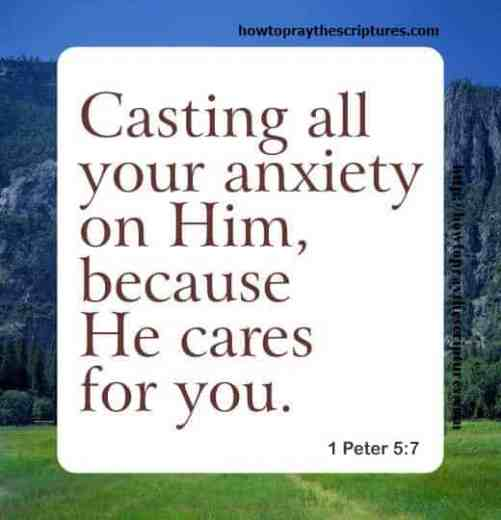 Casting all your anxiety on Him 1 Peter 5-7