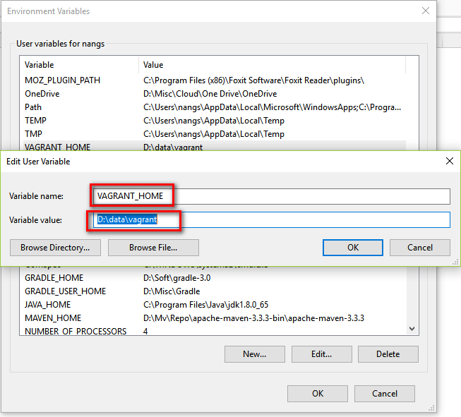 Where Does Vagrant Store Its Boxes After Downloading - Change Vagrant_Home environment variable