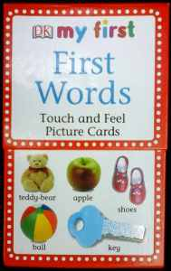 Cover of DK Publishing First Words Touch And Feel Picture Cards