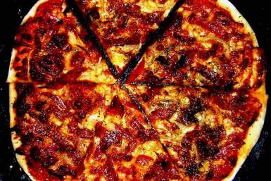 A homemade Italian-style Pizza
