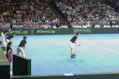 Andy Murray Playing in A Davis Cup Tie in Glasow 2016