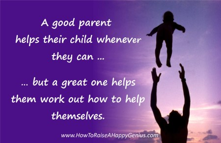 Help Your Child Work Out How To Help Themselves