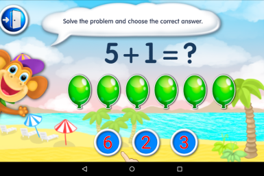 Math, Count and Numbers For Kids Balloon Problem Game