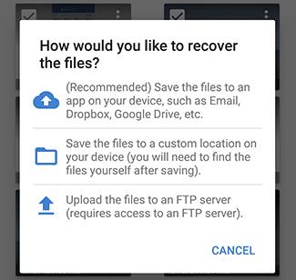 حفظ الملفات على هاتف Android