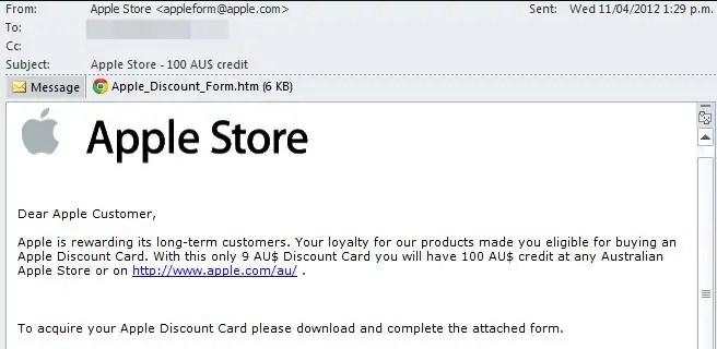 Мошенническая электронная почта