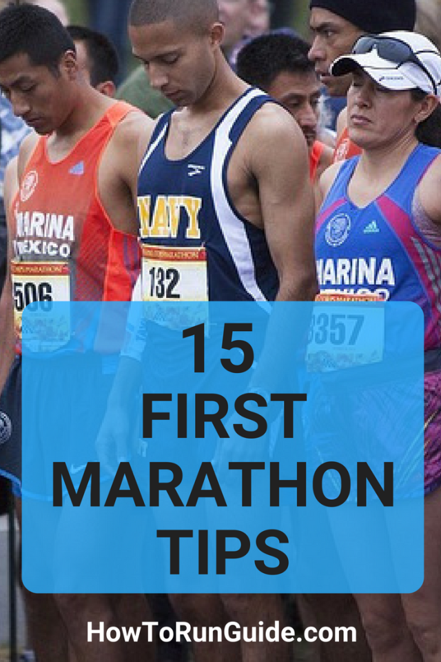 15 First Marathons Tips for runners who want to run their first marathon (but have questions) #running #runningtips #marathons #marathontraining