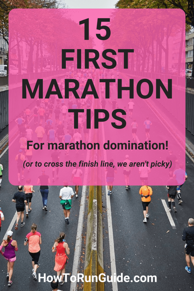 15 First Marathons Tips to get you to the finish line of your very first marathon! #running #runningtips #marathons #marathontraining