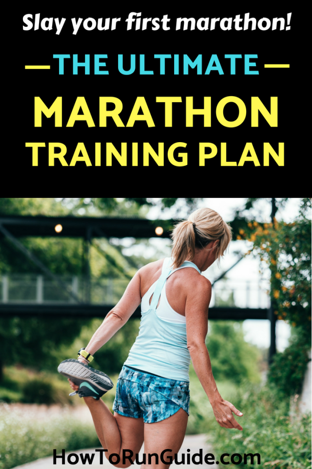The ultimate marathon training plan for beginners who want to run their first marathon (but aren't sure what to expect). #marathon #marathons #running